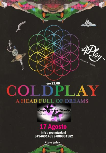 4play Coldplay Tribute Band live
