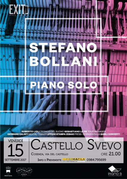 Stefano Bollani live concert per EXIT. Deviazioni in arte e musica