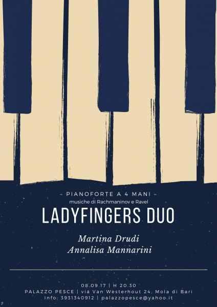 """Ladyfingers duo"" PIANOFORTE A 4 MANI"