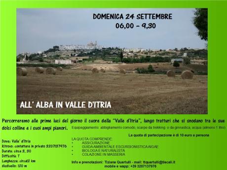 All'alba in VALLE D'Itria