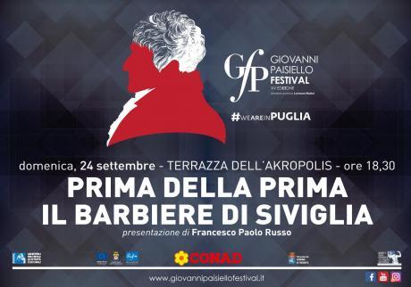 Giovanni Paisiello Festival - XV Edizione   Prima della Prima: il Barbiere di Siviglia