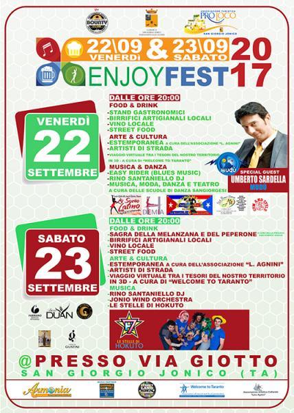 Enjoy Fest 2017 - Via Giotto San Giorgio Jonico