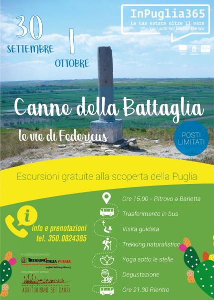 ESCURSIONI GRATUITE - Barletta - Canne della Battaglia