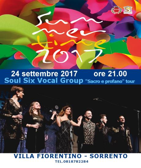"Soul Six vocal group ""Sacro profano"" live tour"