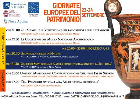 GIORNATE EUROPEE del PATRIMONIO 2017 - Castello Svevo/Museo Archeologico GIOIA DEL COLLE