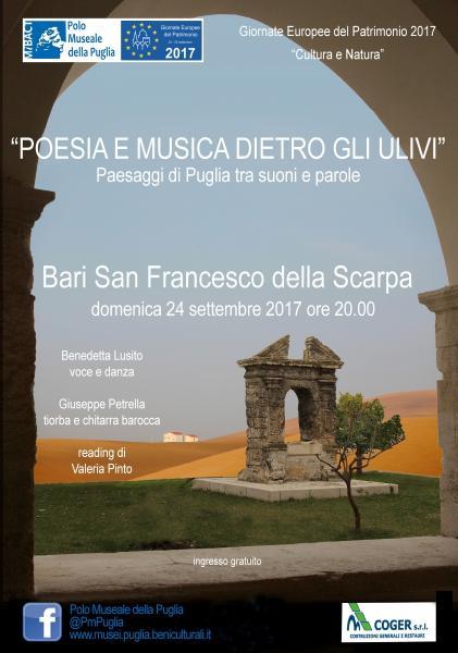 Poesia e Musica dietro gli ulivi. Paesaggi di Puglia tra suoni e parole