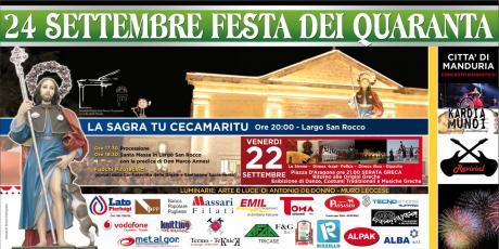 Festa dei Quaranta, a Torrepaduli la statua di San Rocco torna in Santuario dopo 40 giorni