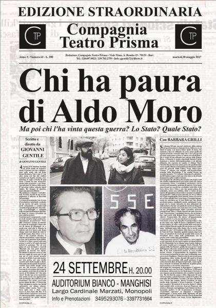 CHI HA PAURA DI ALDO MORO di Giovanni Gentile con Barbara Grilli
