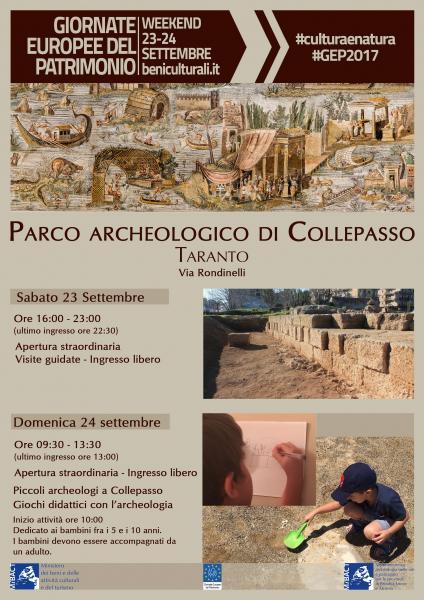 Giornate Europee del Patrimonio - Piccoli archeologi a Collepasso