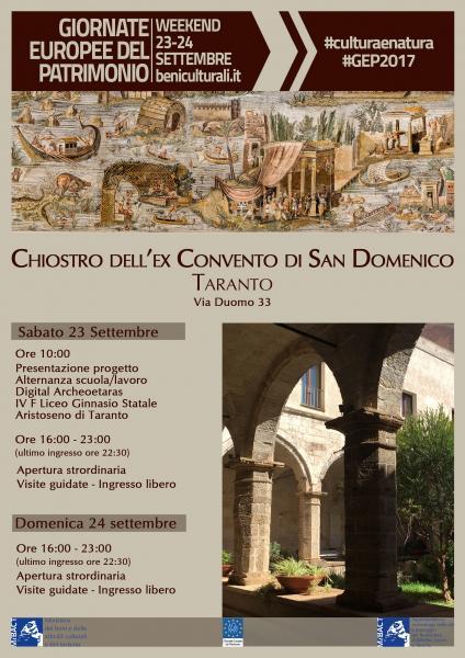 """Giornate Europee del Patrimonio - Presentazione del progetto """"Digital Archeotaras"""""""