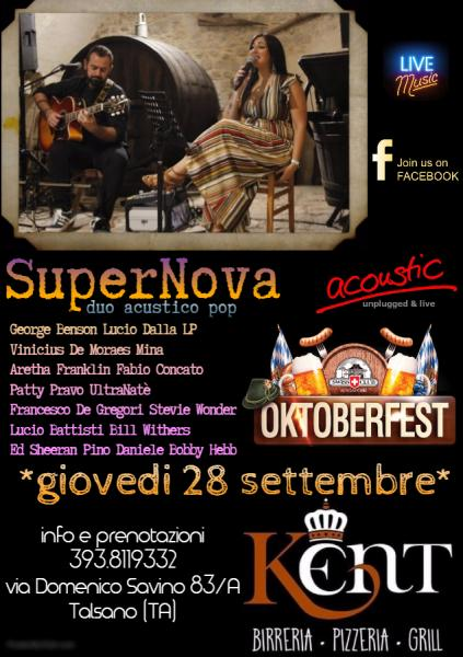 "SuperNova duo acustico ""Oktoberfest"" live Kent pub"