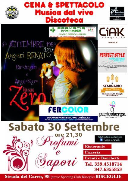 Happy birthday Renato Zero - Rino Argeri live a Bisceglie