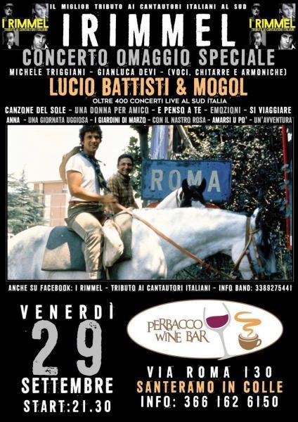 I Rimmel: Speciale omaggio a Lucio Battisti & Mogol.. Le vite, gli aneddoti e le canzoni... @ Perbacco Pub (Santeramo in colle)