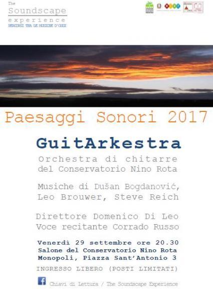 Paesaggi Sonori / Guitarkestra, Orchestra di Chitarre del Conservatorio Nino Rota Direttore Domenico di Leo
