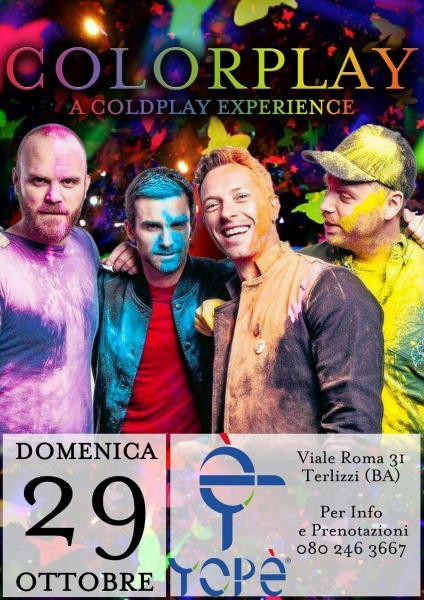 Colorplay a Coldplay Experience live yogurteria Yopè