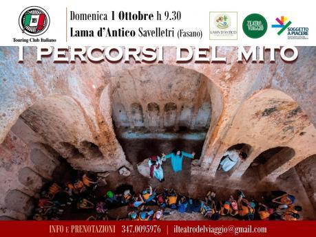 I PERCORSI DEL MITO, visite guidate teatralizzate nel Parco Rupestre