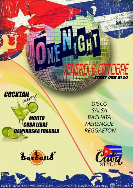 Barcollo.. ONE NIGHT!! Serata Disco & Latin. Are you ready to dance?
