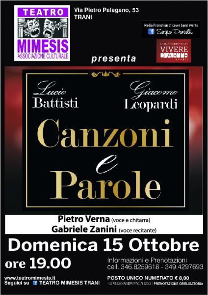 Canzoni e Parole - Lucio Battisti e Giacomo Leopardi a Trani