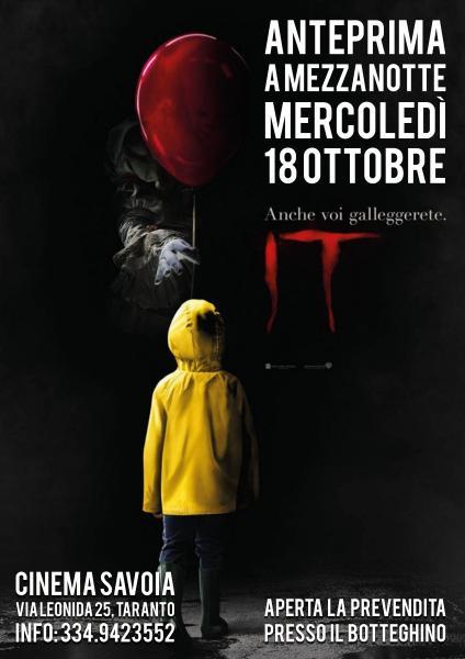 """Anteprima del film """"IT"""" a mezzanotte al cinema Savoia"""