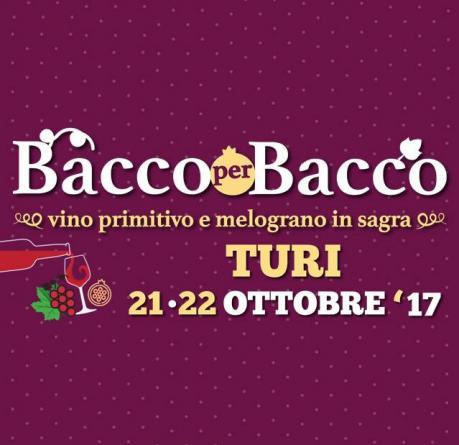 """BACCO PER BACCO  """"vino primitivo e melograno in sagra"""""""
