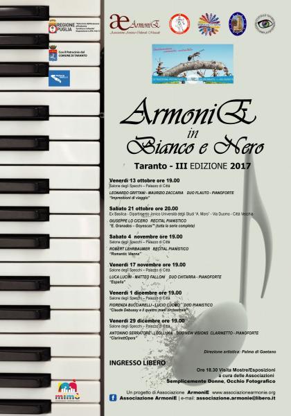 ArmoniE in Bianco e Nero - III Edizione Recital Pianistico M° Giuseppe Lo Cicero