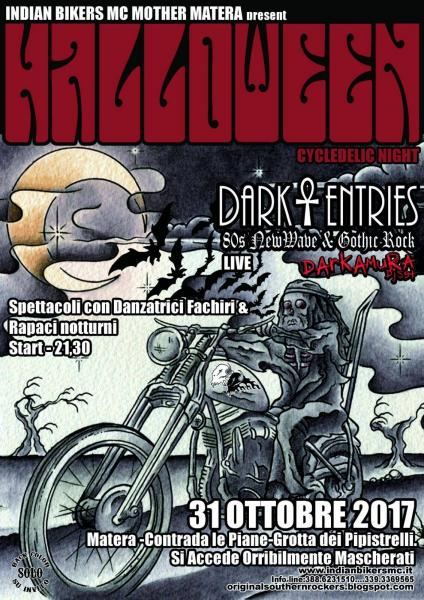Halloween Cycledelic Night by Indian Bikers MC Mother Matera