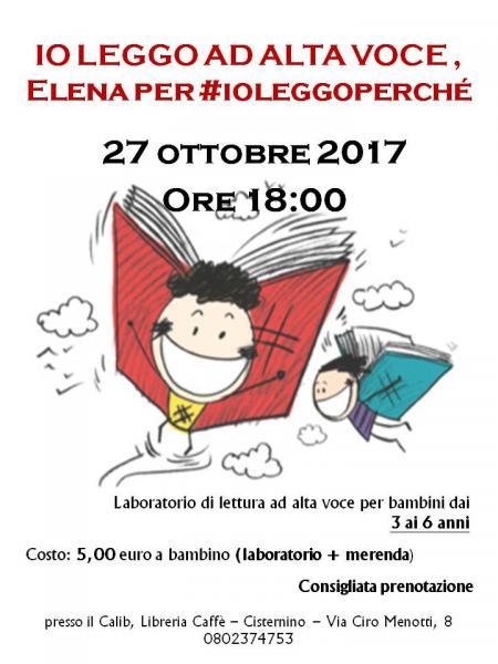 Io leggo ad alta voce, Elena per #ioleggoperchè2017