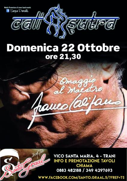 CaliSutra tributo al Maestro Franco Califano a Trani