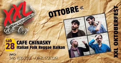 Cafe' Chinasky at XXL Music Pub // 28 Ottobre 2017