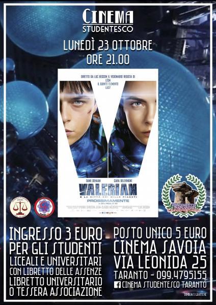 """""""Valerian"""" in rassegna al cinema Savoia"""