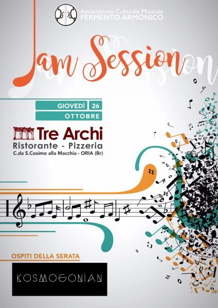 Jam Session & KOSMOGONIAN Live @ TRE ARCHI