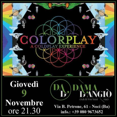 Colorplay a Coldplay experience live Dama D'angiò
