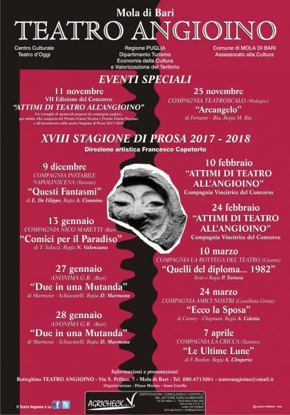 XVIII STAGIONE di PROSA, Teatro Angioino - Mola di Bari