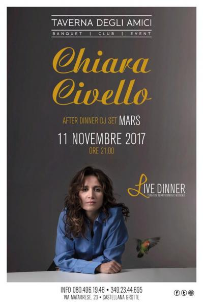 Chiara Civello at Live Dinner TDA