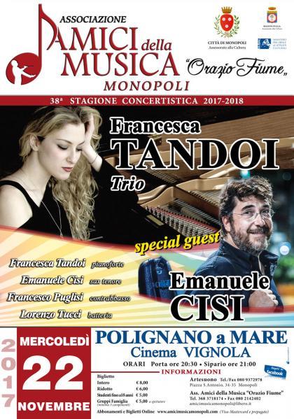 Francesca Tandoi Jazz Trio - Special guest Emanuele Cisi