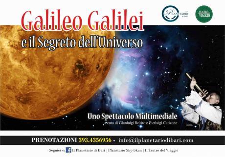 Galileo Galilei e il Segreto dell'Universo, uno spettacolo multimediale al Planetario di Bari