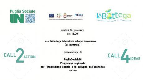 Presentazione PugliaSocialeIN - Call2Action e la Call4Ideas