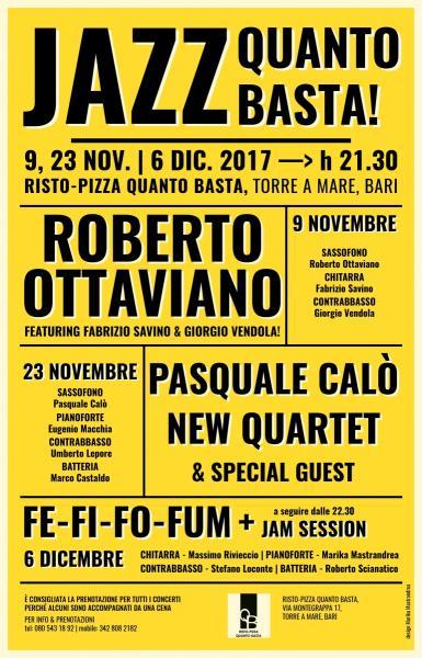 """Jazz Quanto Basta! presenta """"Pasquale Calò New Quartet"""""""