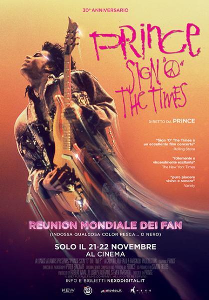 PRINCE SIGN O' THE TIMES Il film concerto diretto da Prince solo il 21 e 22 Novembre 2017 al Multisala VIGNOLA versione digitale restaurata - LA REUNION MONDIALE DEI FAN (indossa qualcosa color pesca… o nero!)