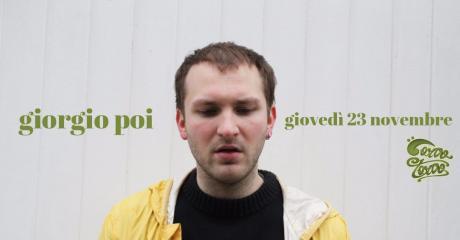 Giorgio Poi live al CorvoTorvo - giovedì 23 novembre