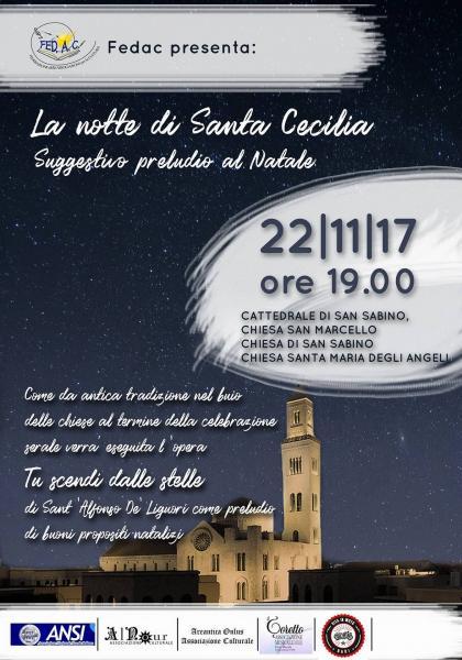 """Suggestivo preludio al Natale   """"La notte di Santa Cecilia"""""""