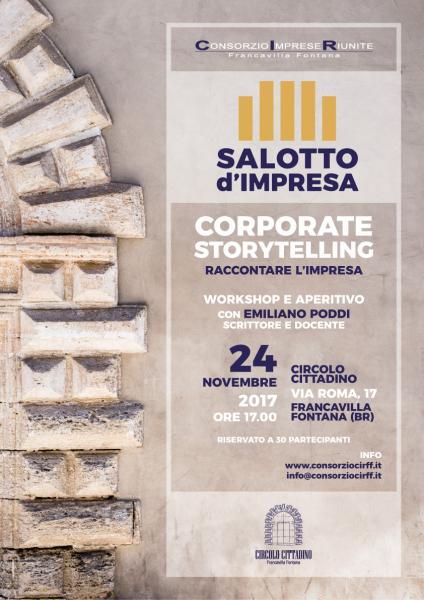 Salotto d'Impresa presenta: Corporate storytelling - Workshop e aperitivo con Emiliano Poddi