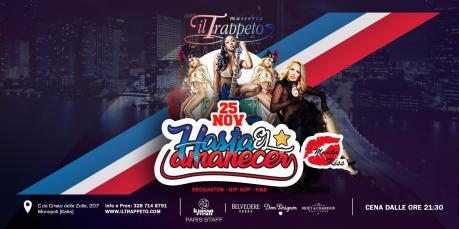 "SABATO 25 Novembre ""Hasta el amanecer party"" + Monika KISS Guest al Trappeto di Monopoli"