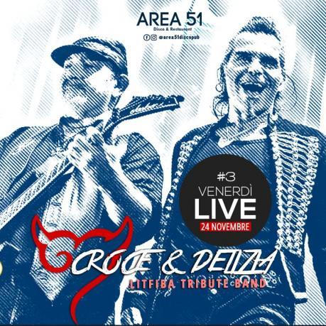 Musica da live per aprire il weekend: sul palco dell'Area 51 di Novoli l'omaggio ai Litfiba dei Croce e Delizia