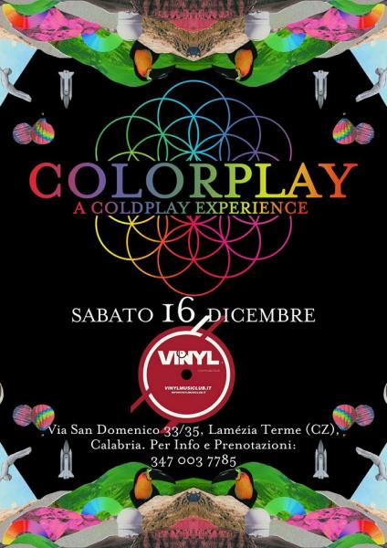 Colorplay a Coldplay experience Live Vinyl Music Club