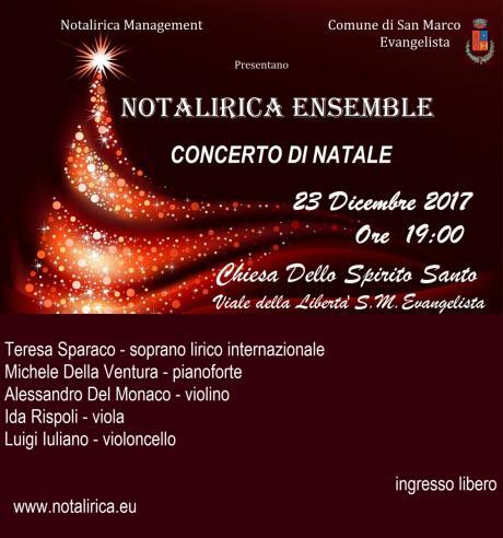 Notalirica Ensemble in Concerto di Natale