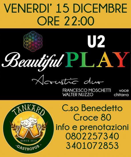 Beautiful Play Acoustic duo U2/Coldplay Live al Tankard Pub
