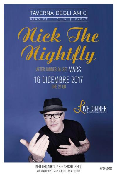 16.12 Nick The Nightfly @ Live Dinner Tda