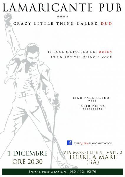 A Grande Richiesta torna la Musica Live dei Queen piano e voce