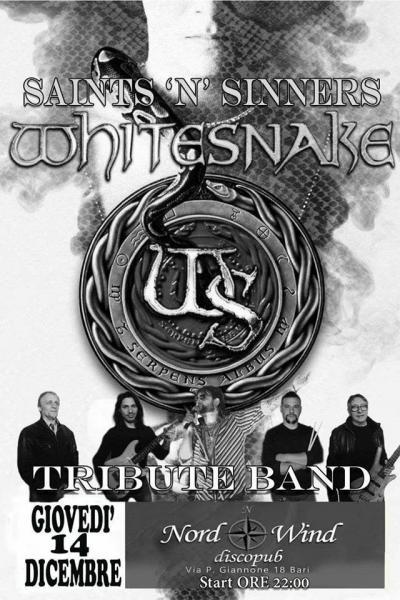 Whitesnake Tribute - Saints N' Sinners In Concerto al Nordwind discopub